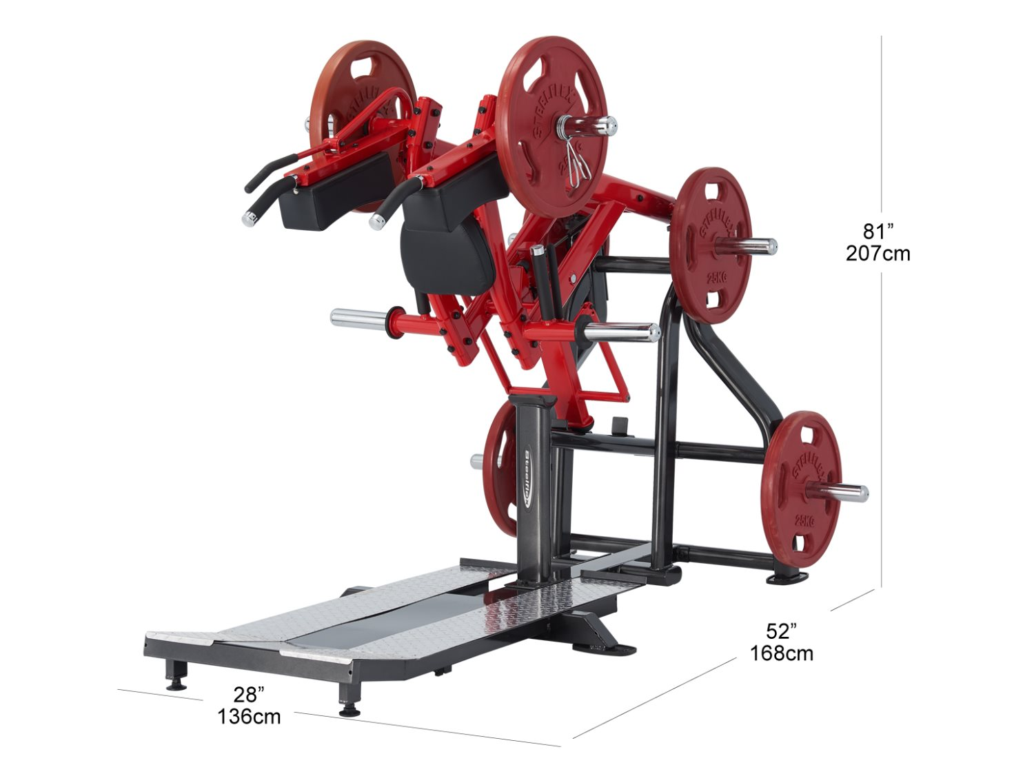 Standing Squat Machine Plss Body Solid 174 Fitness